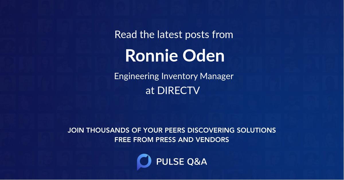 Ronnie Oden