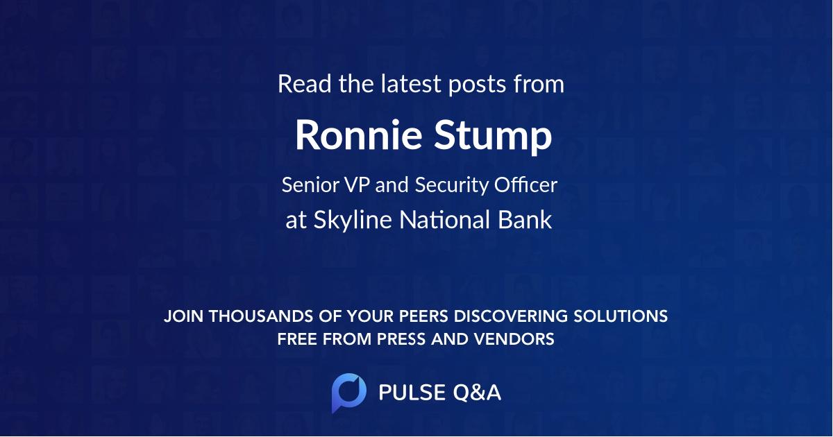 Ronnie Stump