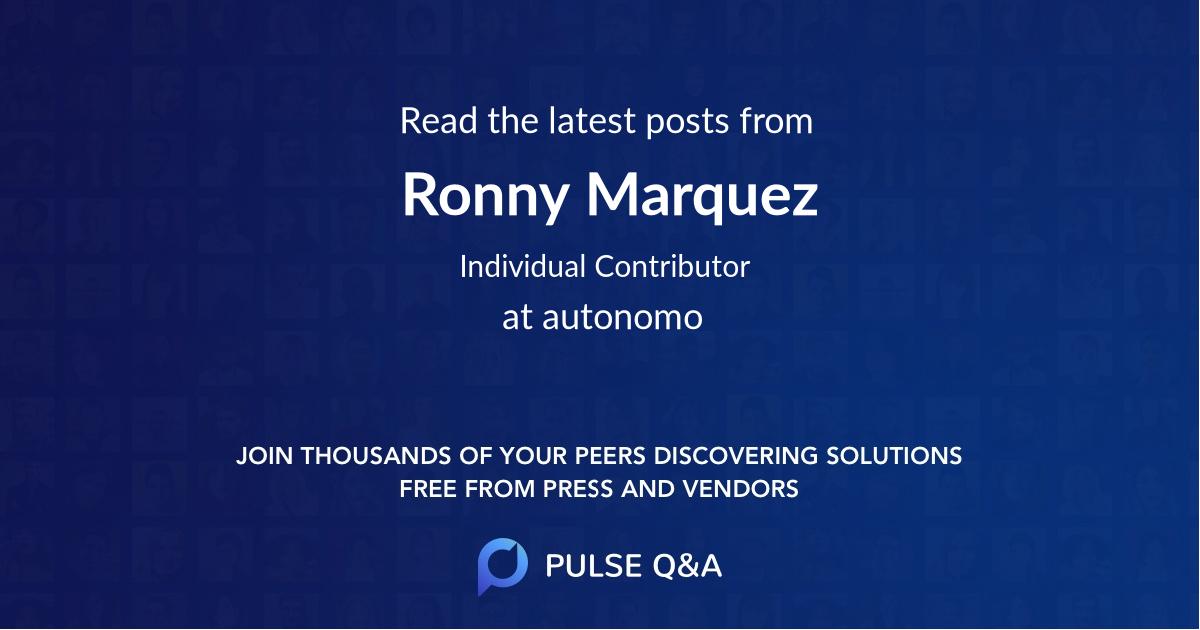 Ronny Marquez