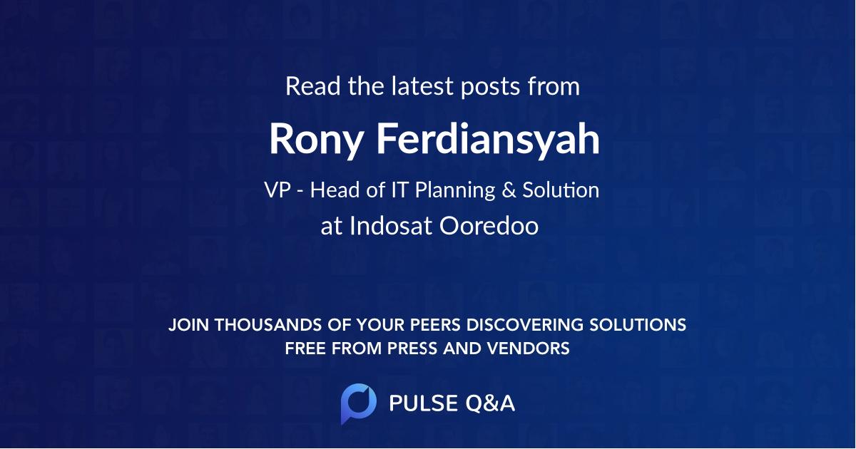 Rony Ferdiansyah