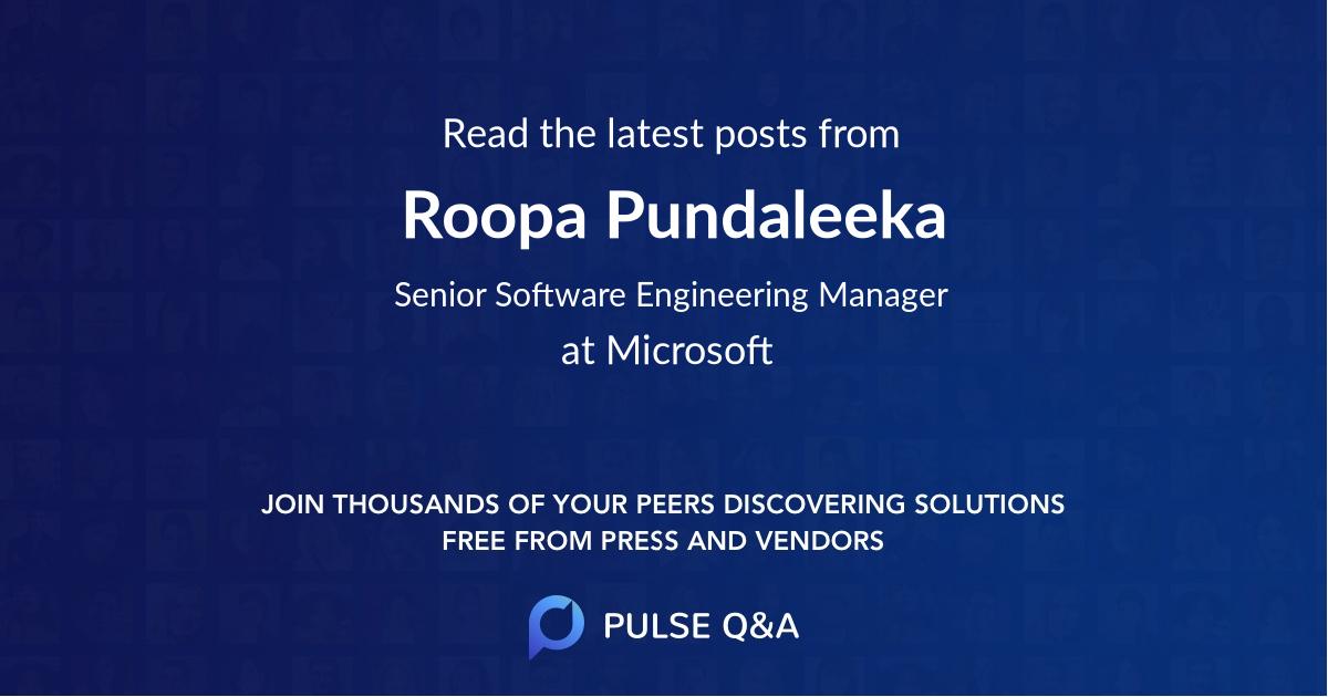 Roopa Pundaleeka