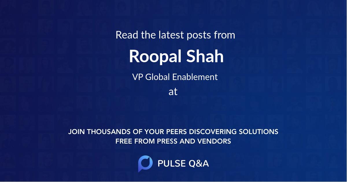 Roopal Shah
