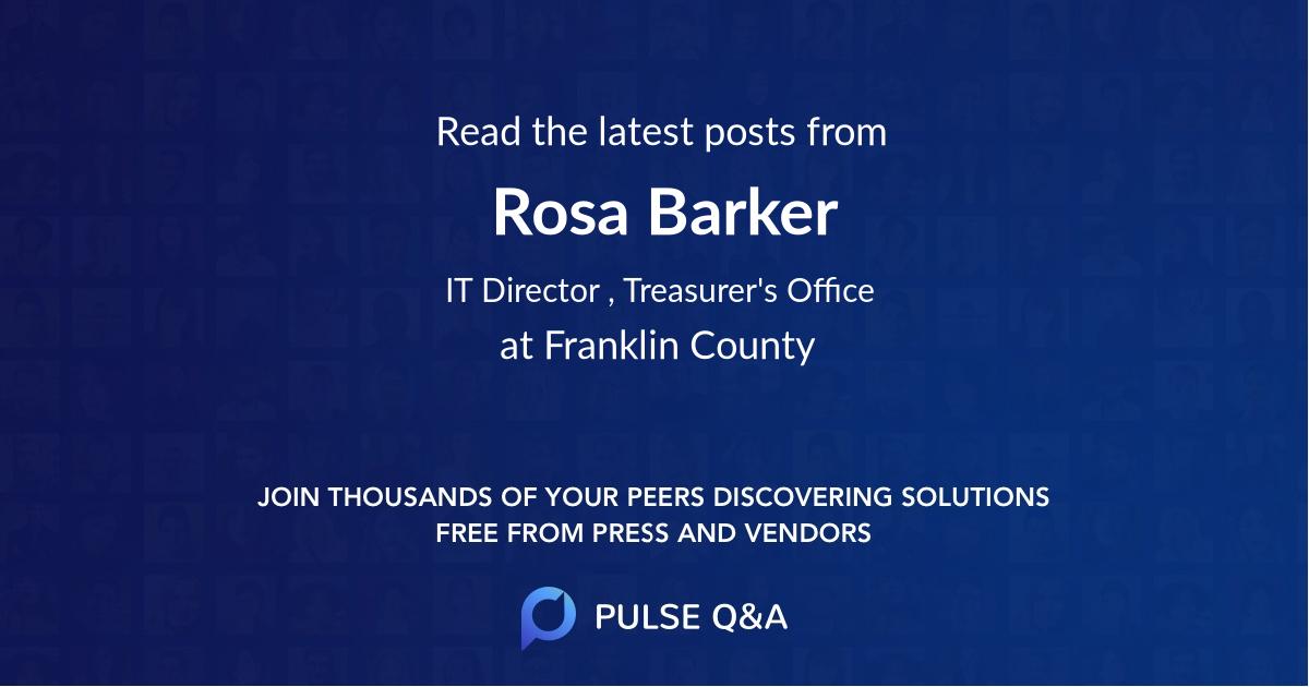 Rosa Barker