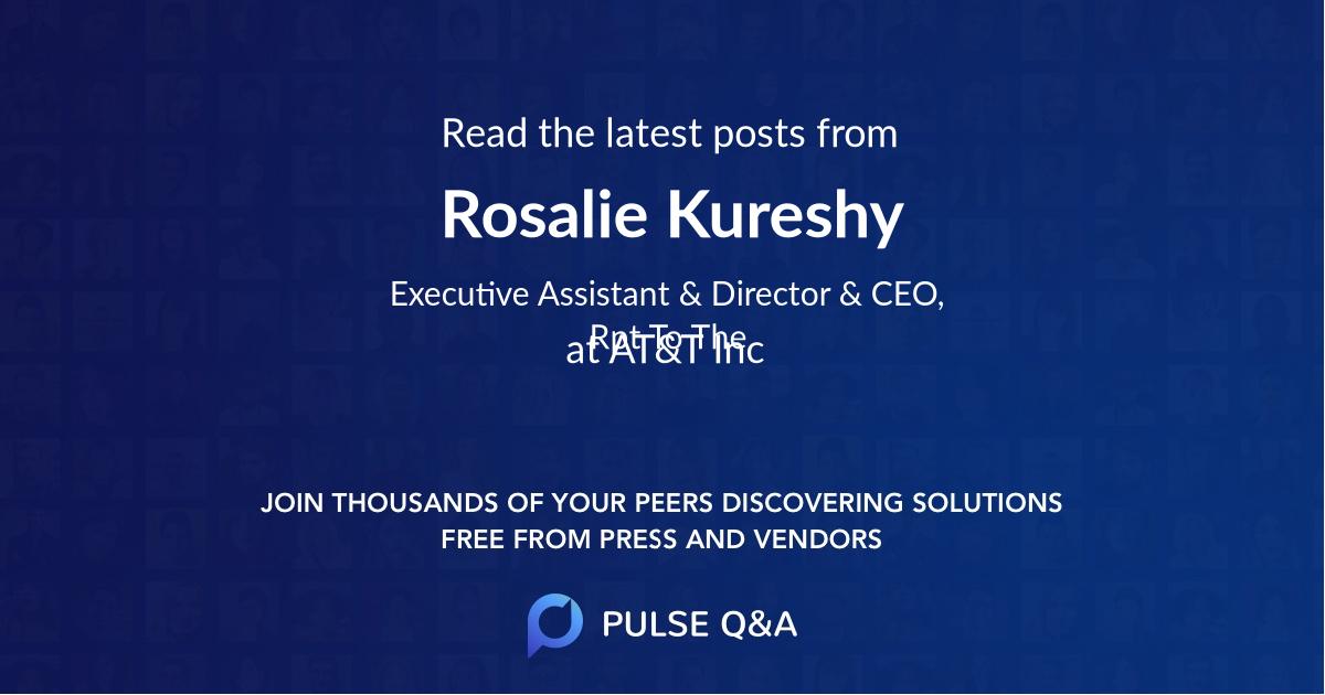 Rosalie Kureshy
