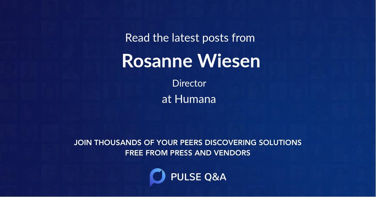 Rosanne Wiesen