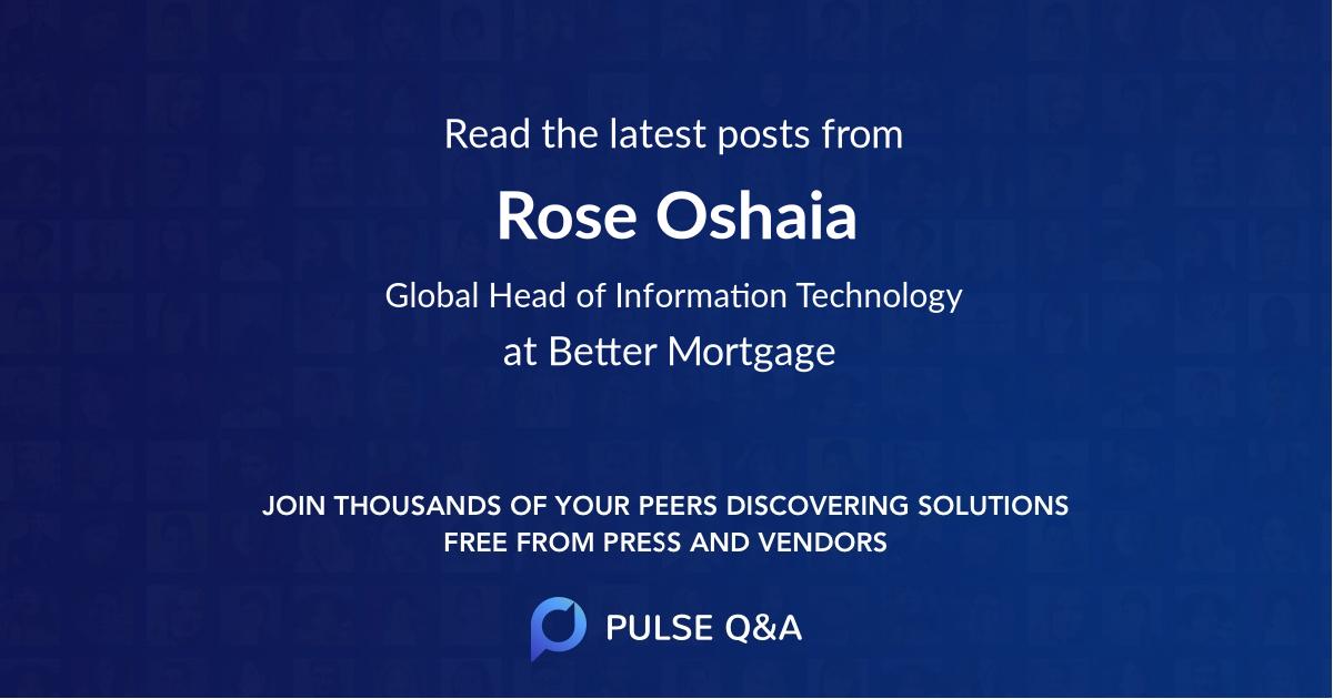 Rose Oshaia