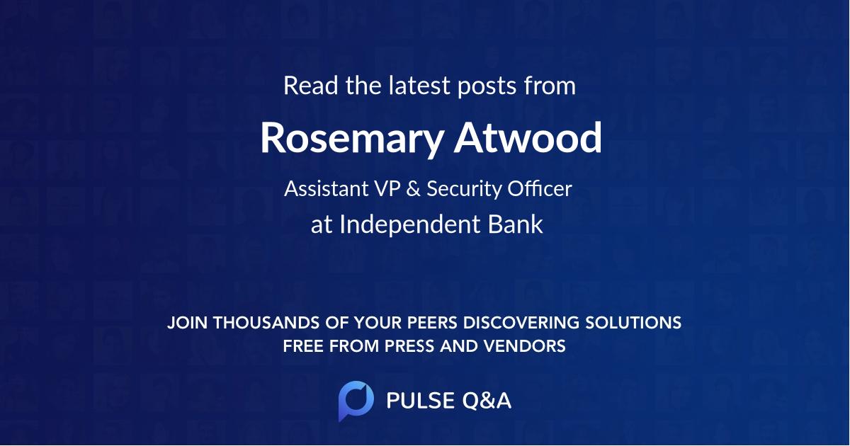 Rosemary Atwood