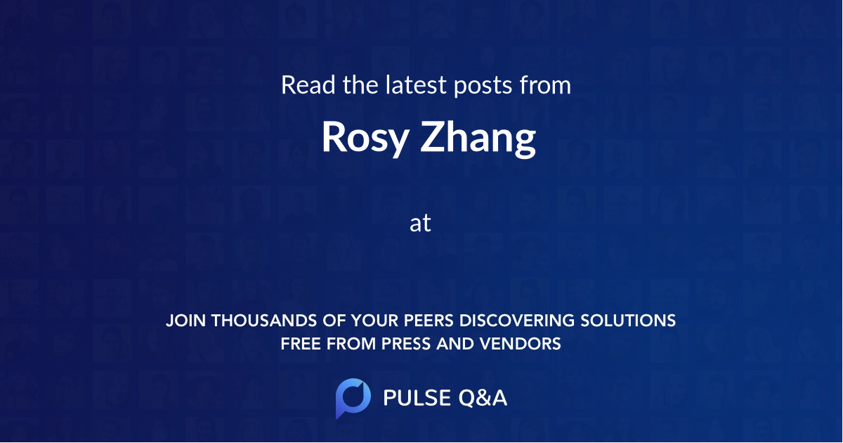 Rosy Zhang