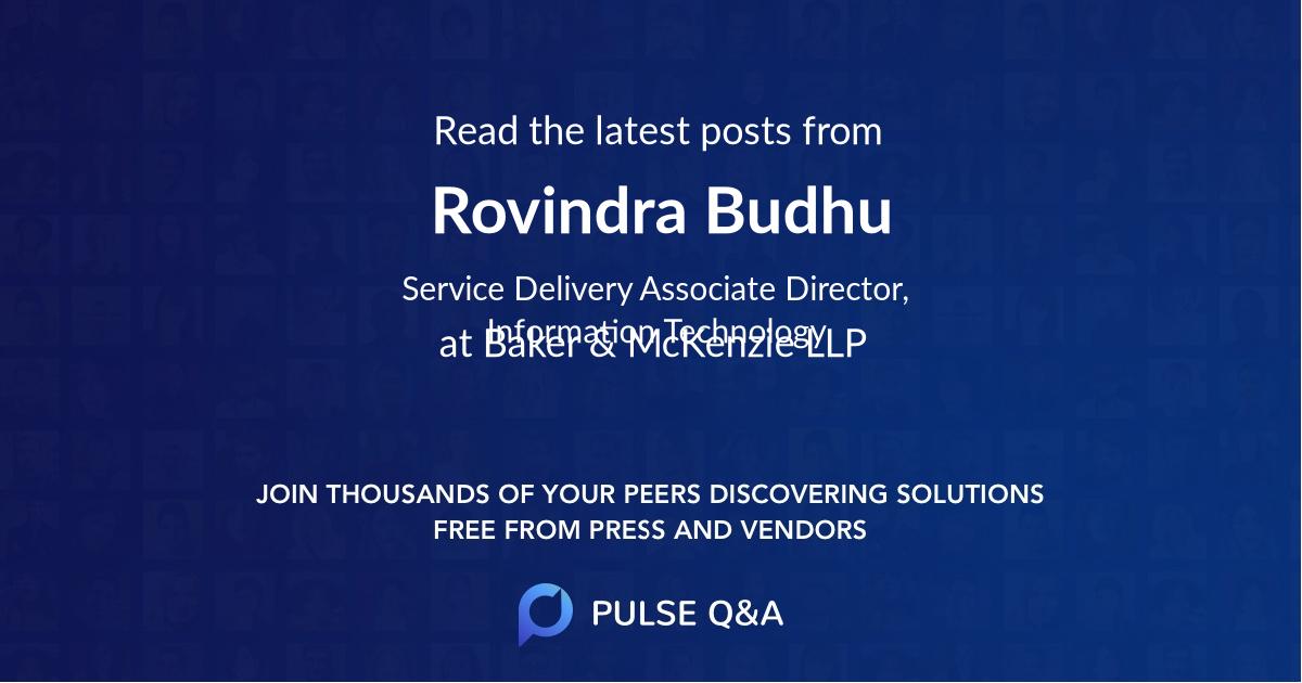 Rovindra Budhu