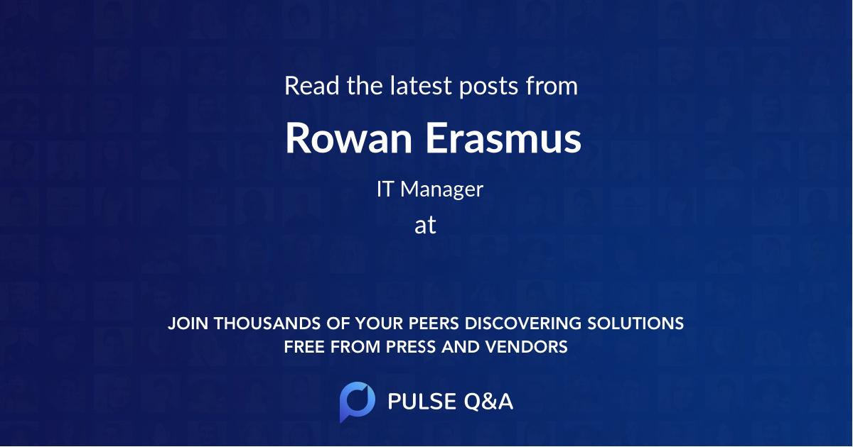 Rowan Erasmus