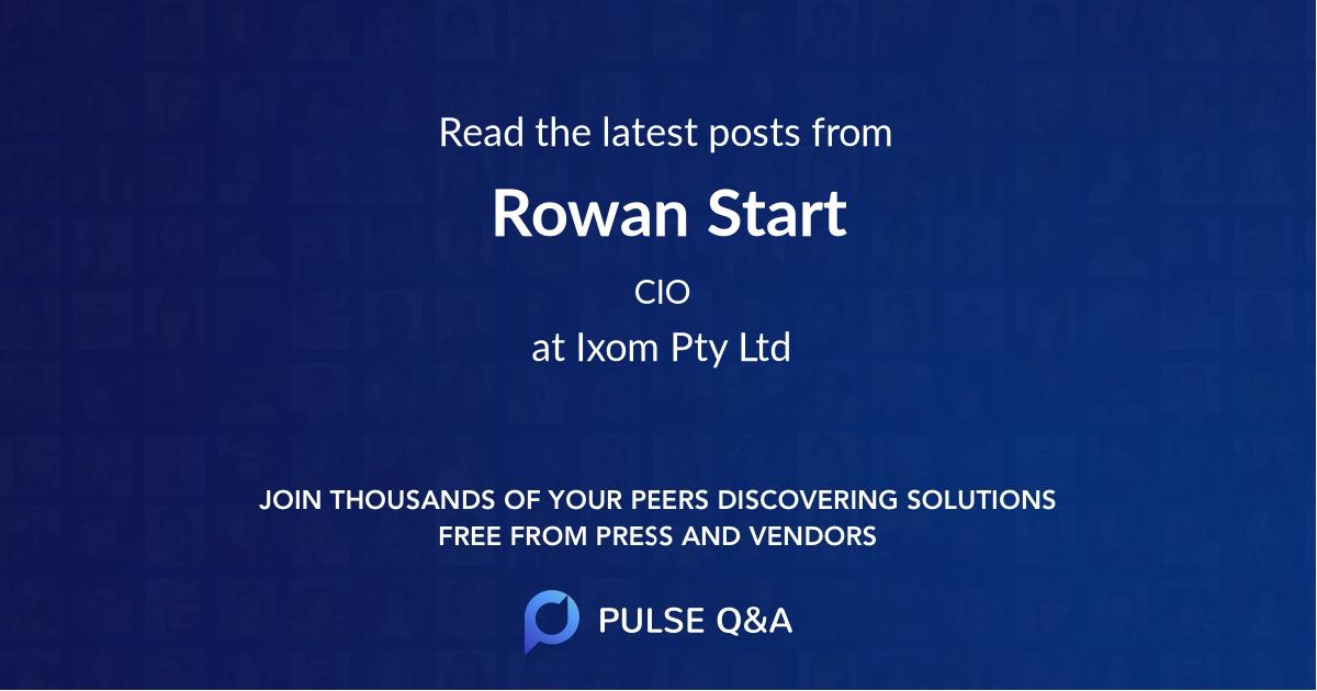 Rowan Start