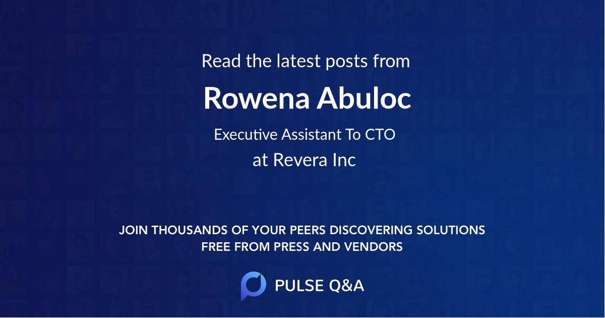 Rowena Abuloc