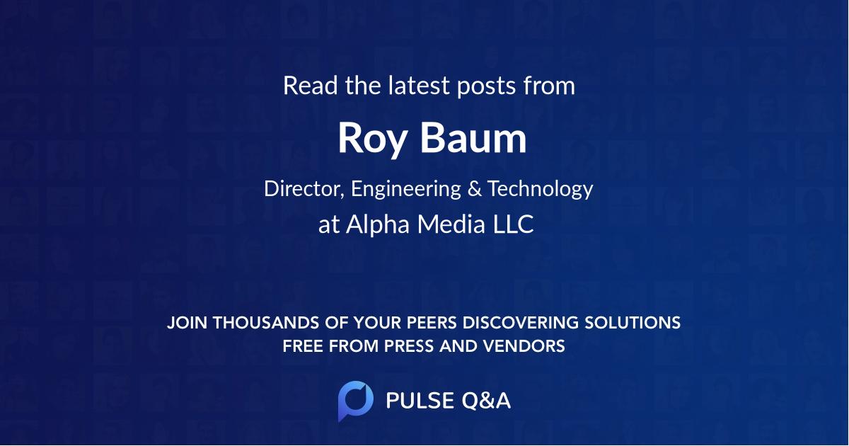 Roy Baum