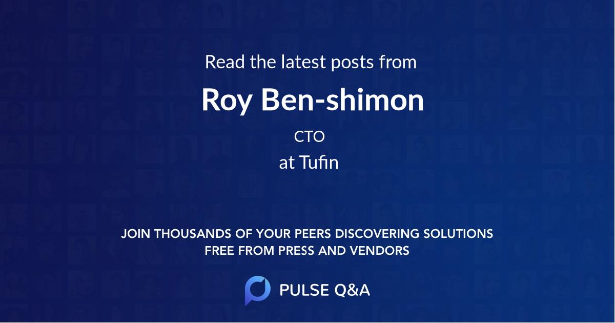 Roy Ben-shimon