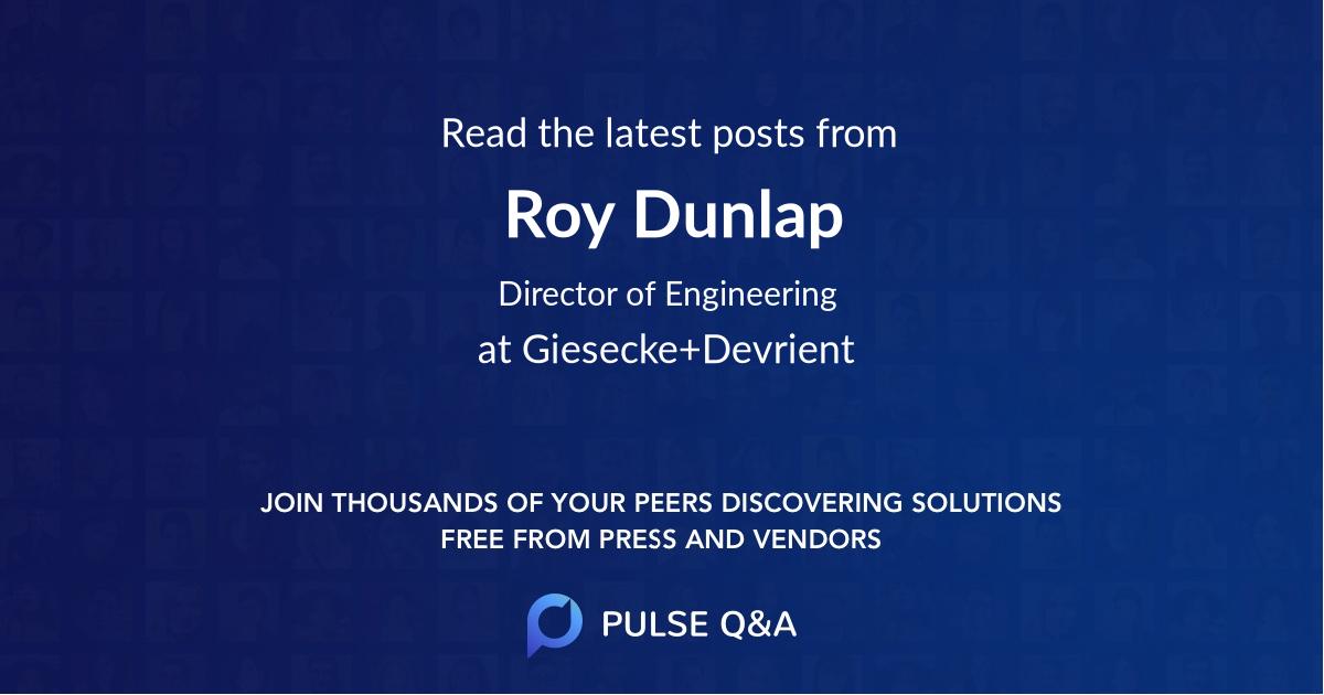 Roy Dunlap