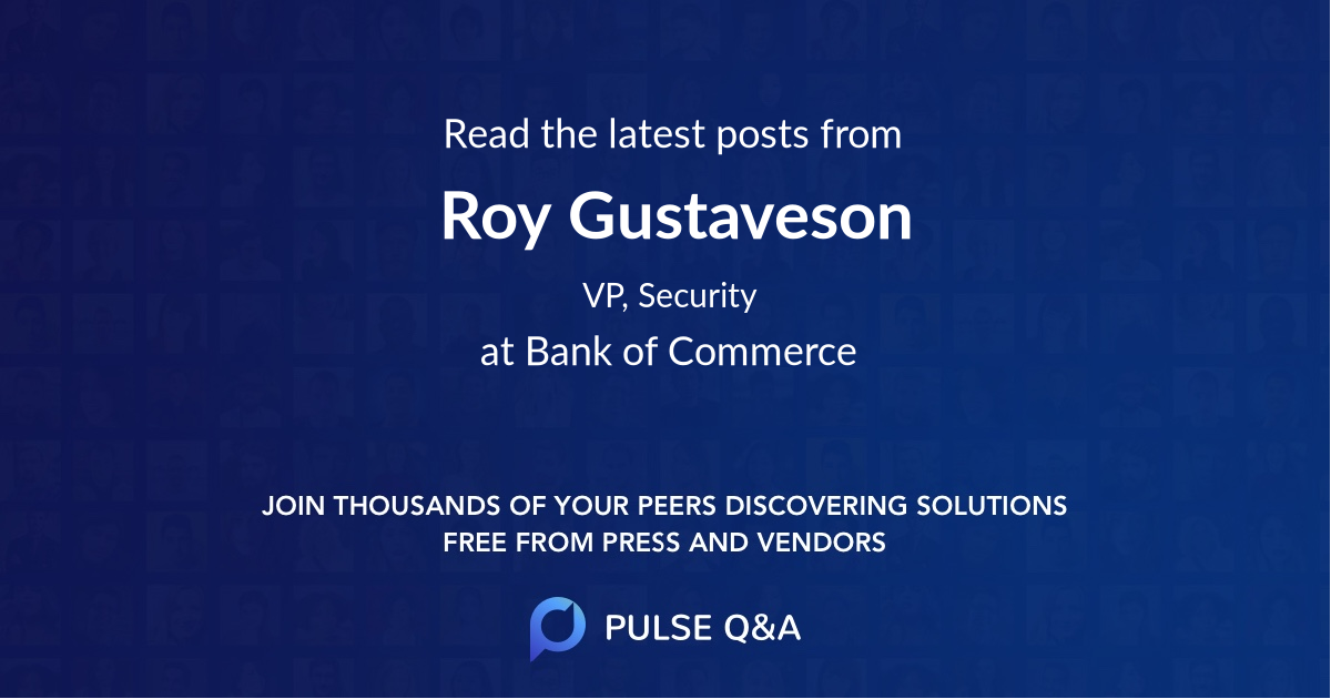 Roy Gustaveson