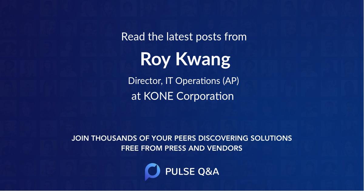 Roy Kwang
