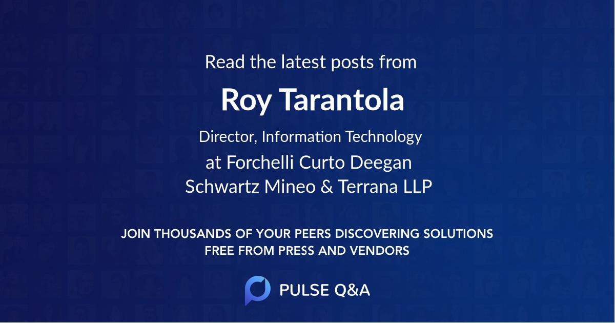 Roy Tarantola