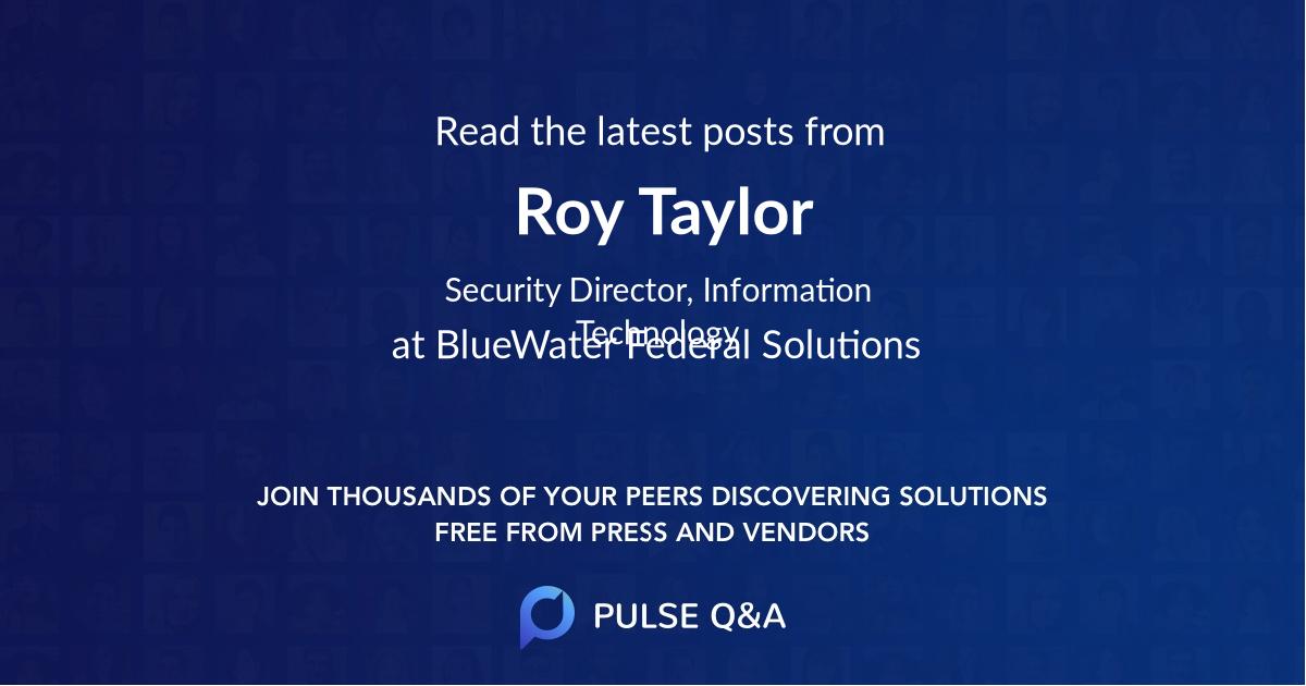 Roy Taylor