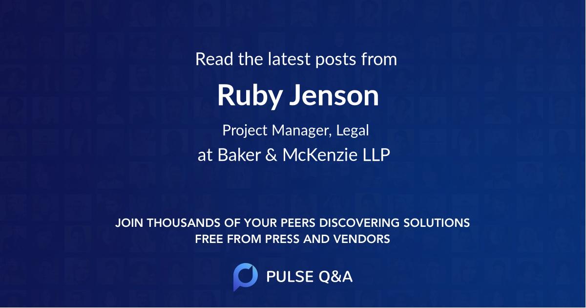 Ruby Jenson