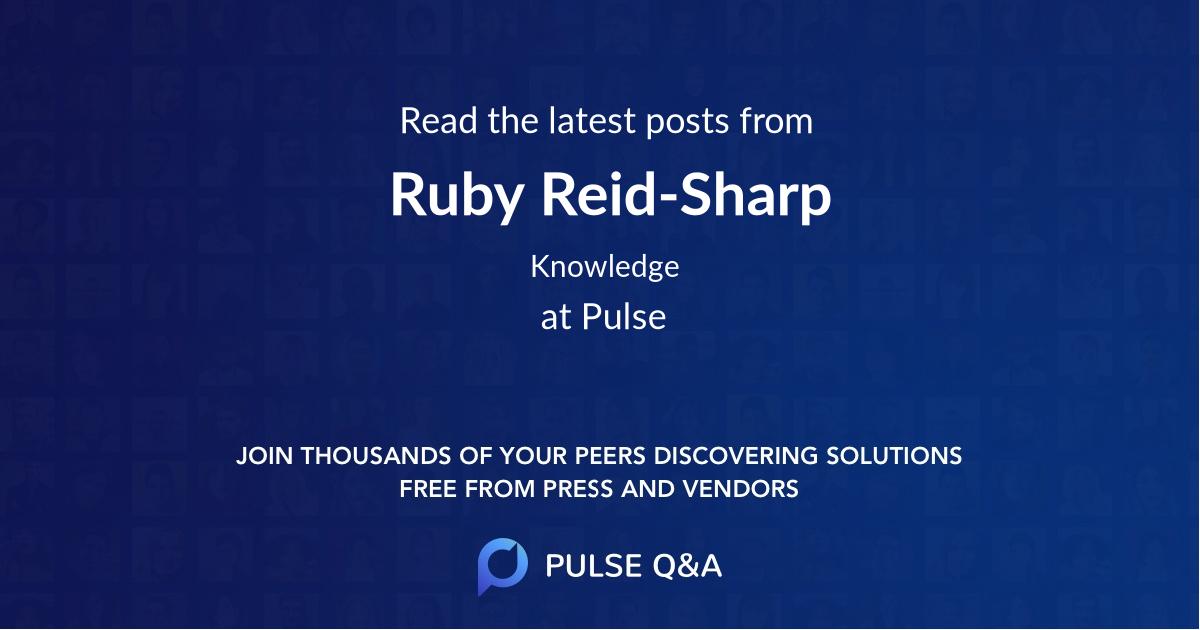 Ruby Reid-Sharp
