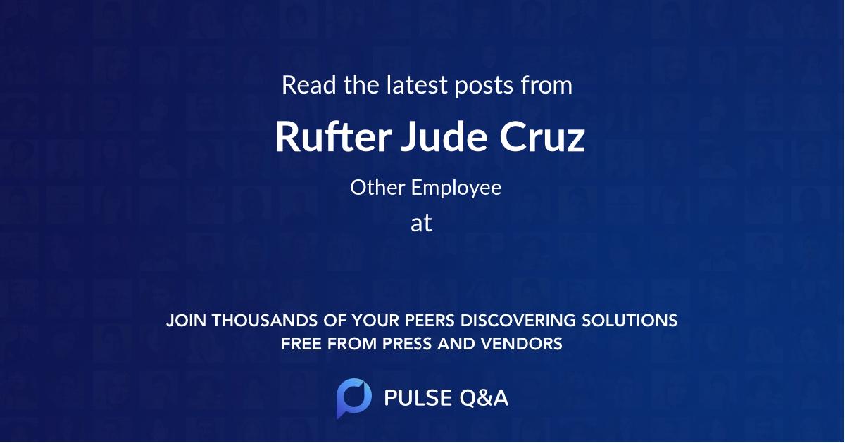 Rufter Jude Cruz