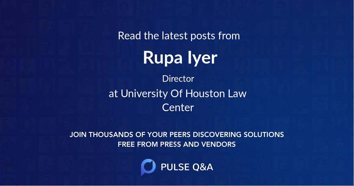 Rupa Iyer