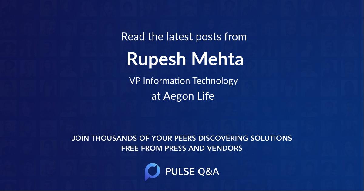 Rupesh Mehta