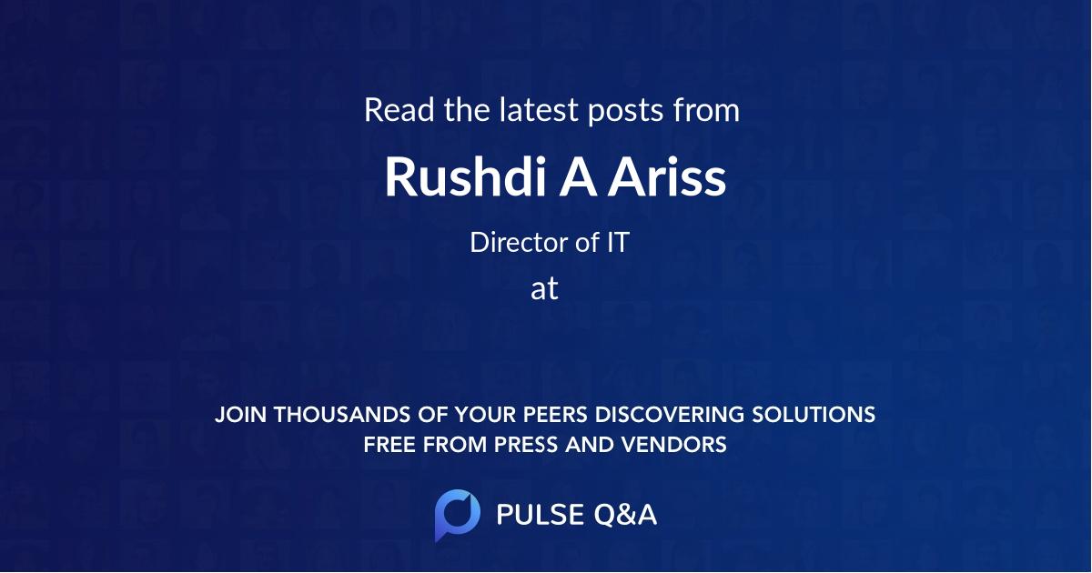 Rushdi A Ariss