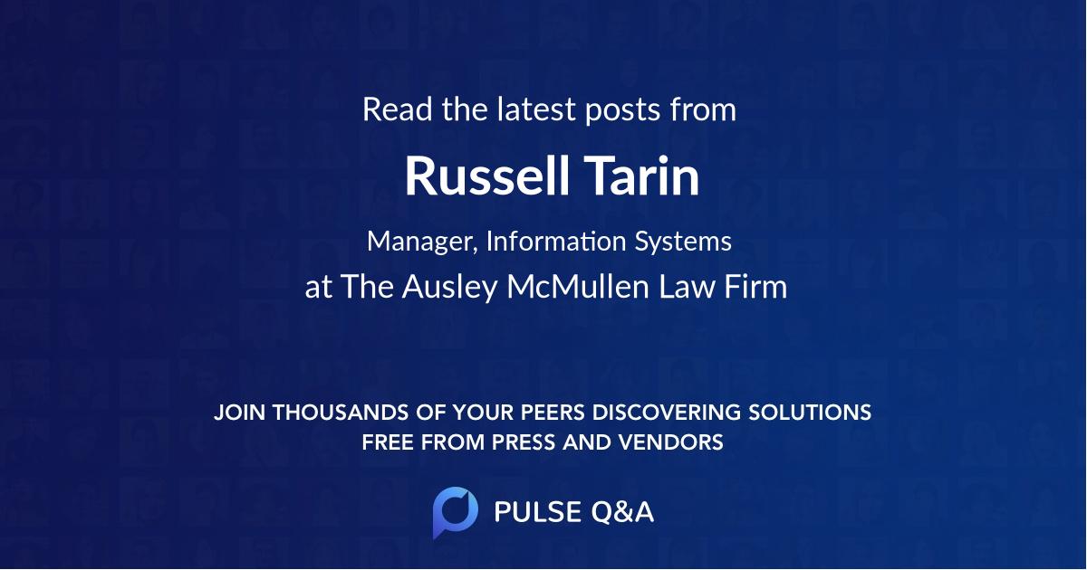 Russell Tarin