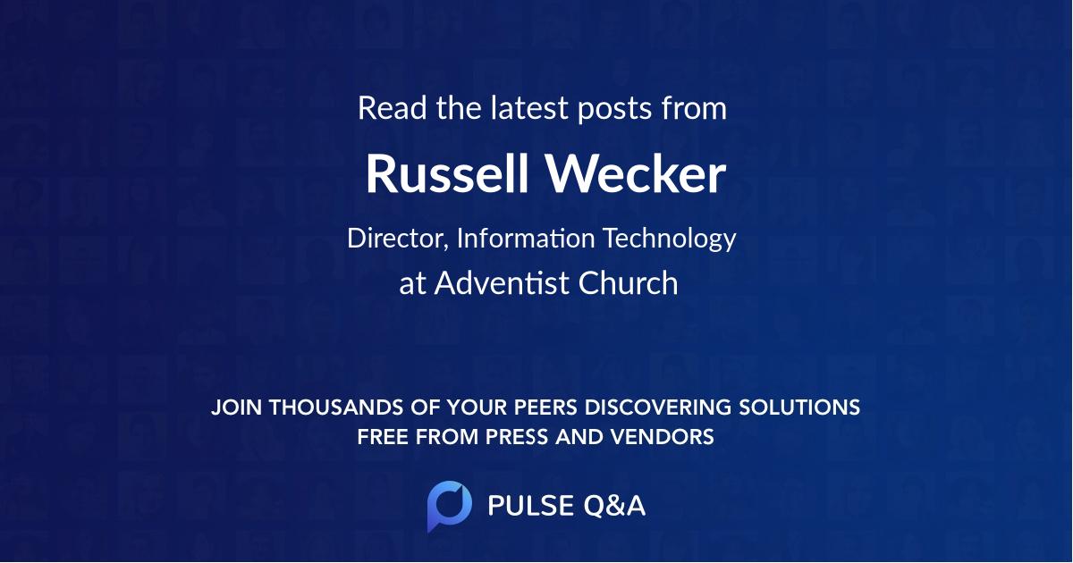 Russell Wecker