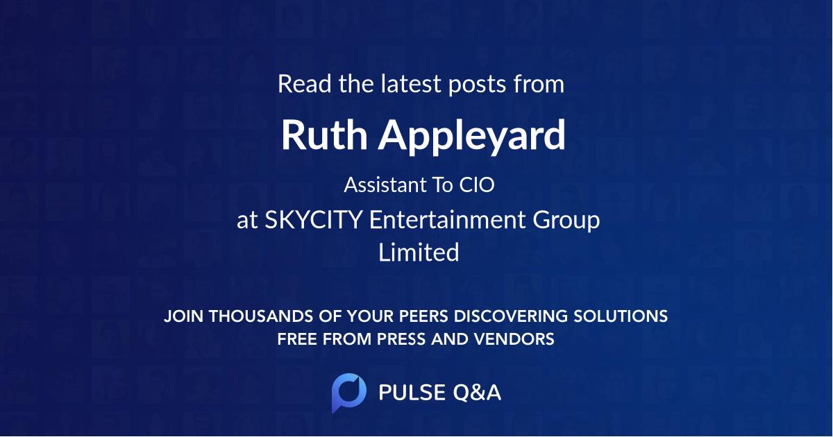 Ruth Appleyard