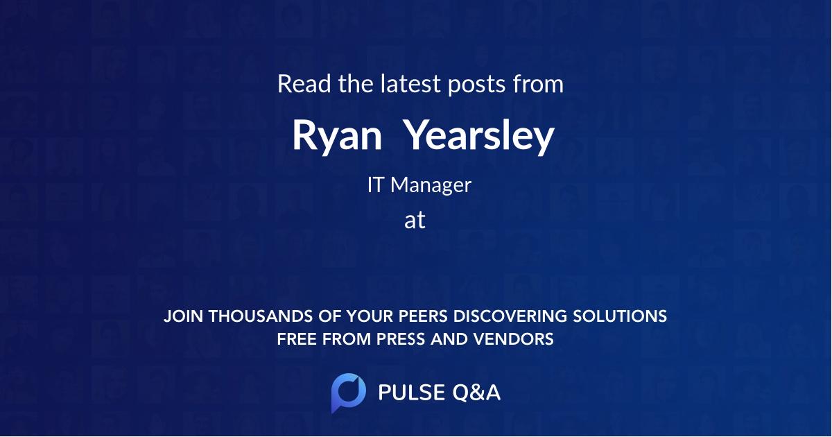 Ryan  Yearsley
