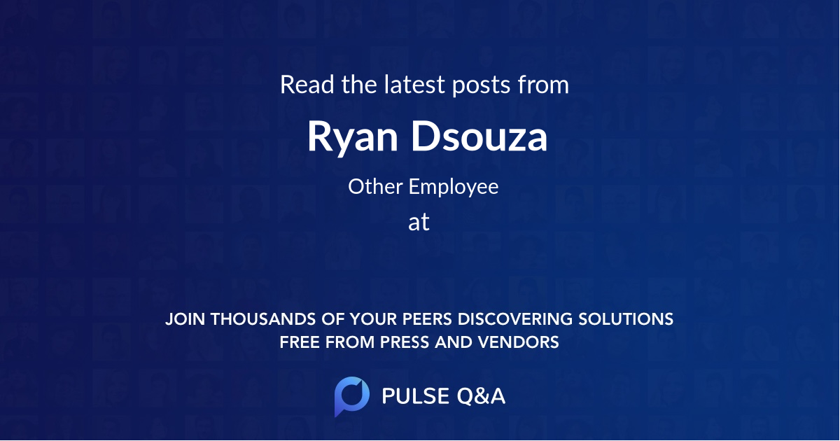 Ryan Dsouza
