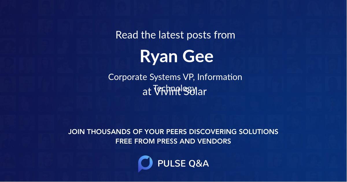 Ryan Gee