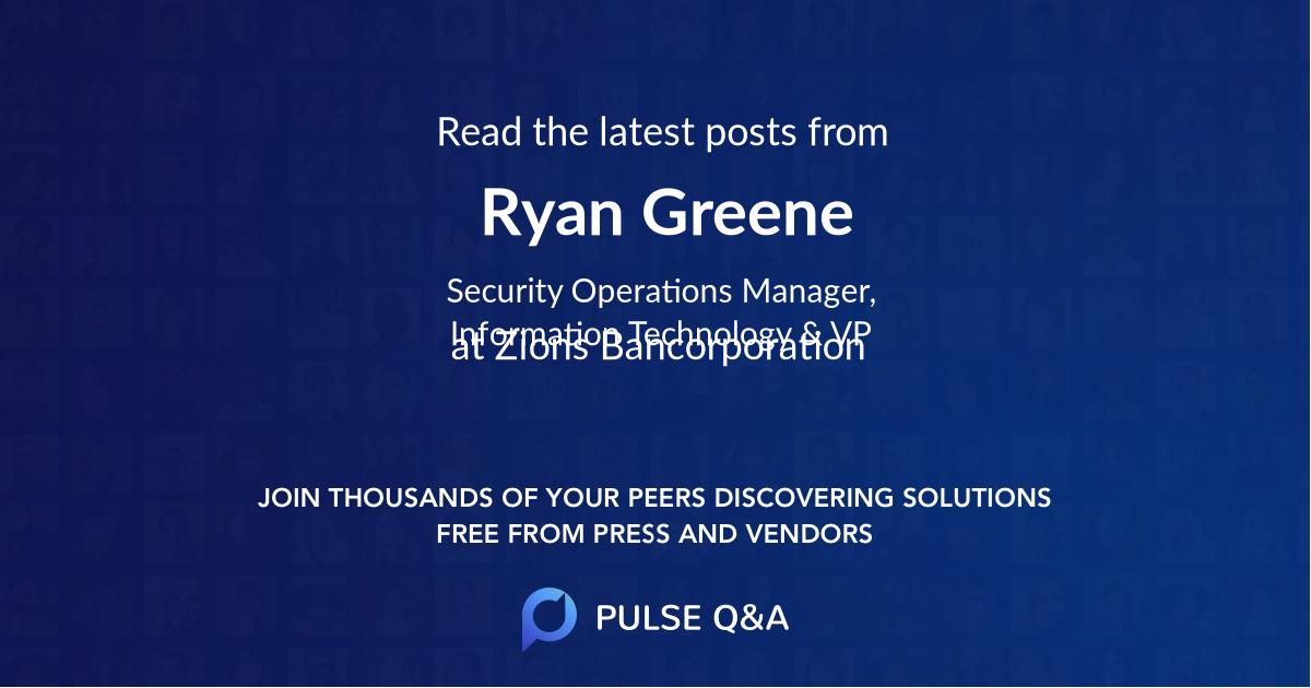 Ryan Greene