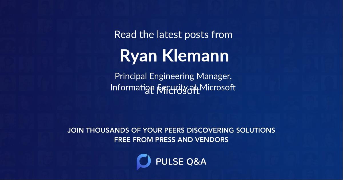 Ryan Klemann