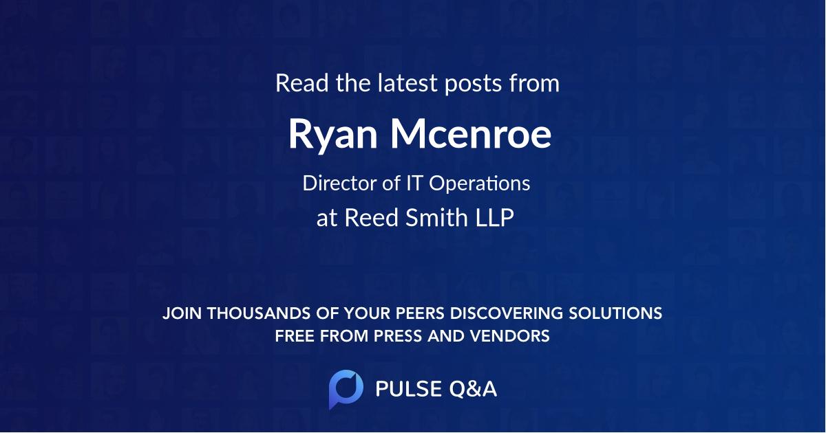 Ryan Mcenroe