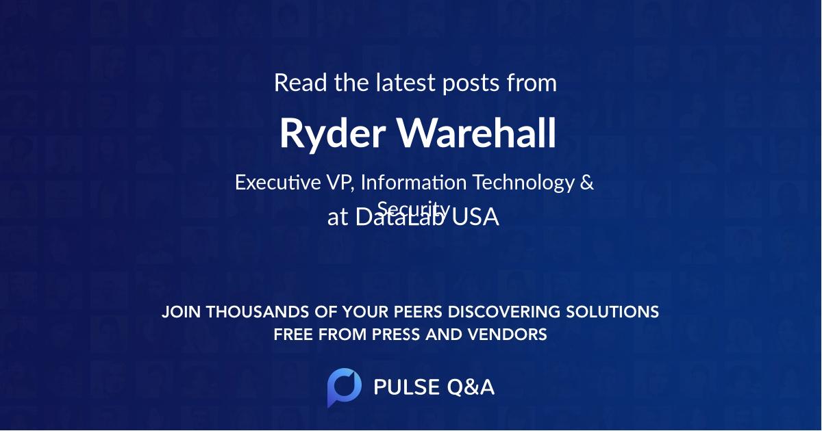 Ryder Warehall
