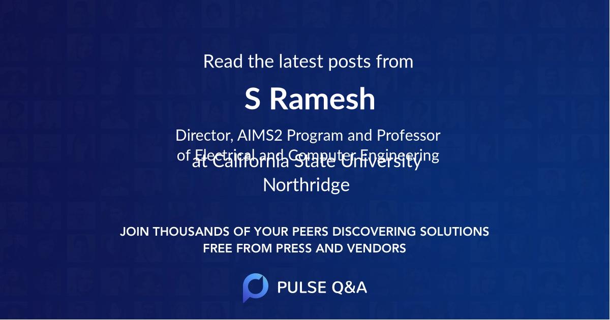 S Ramesh