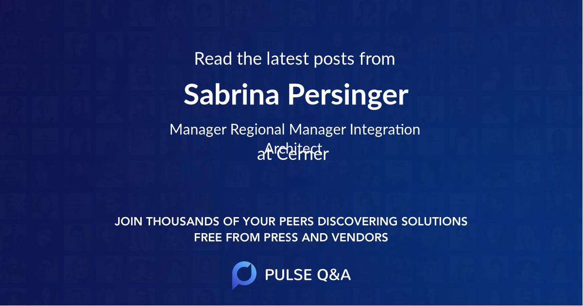Sabrina Persinger