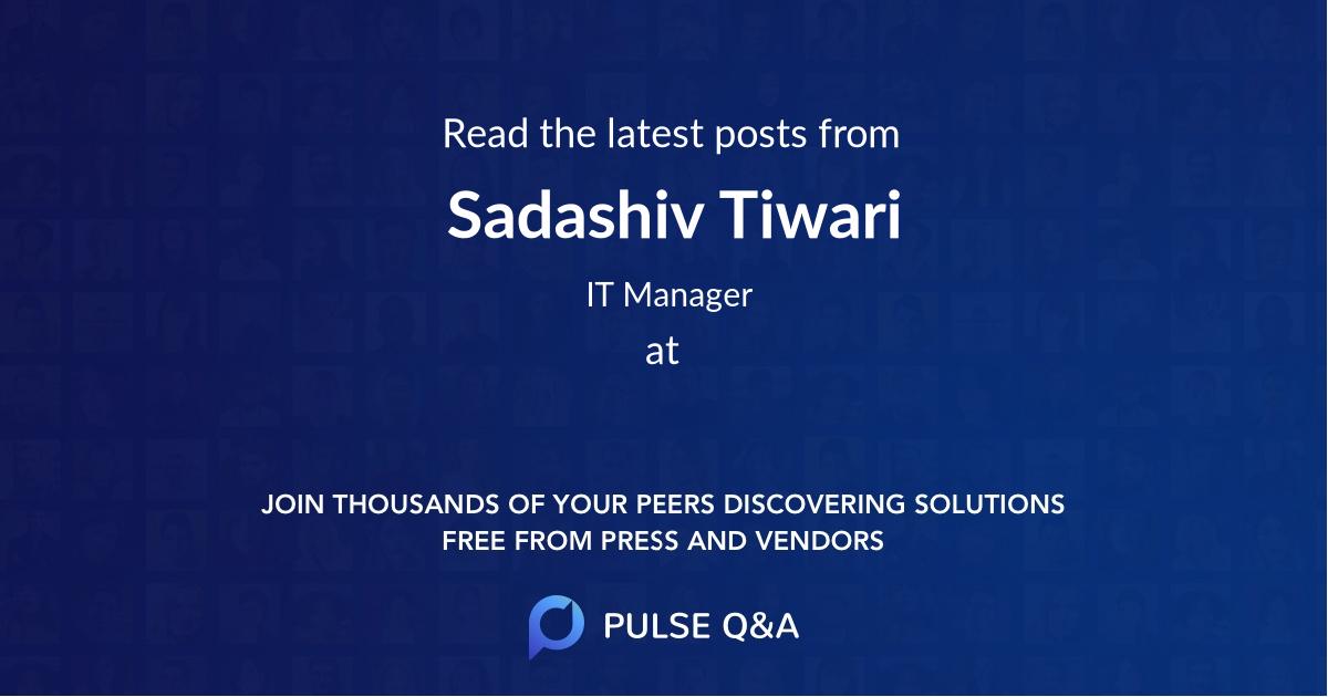 Sadashiv Tiwari