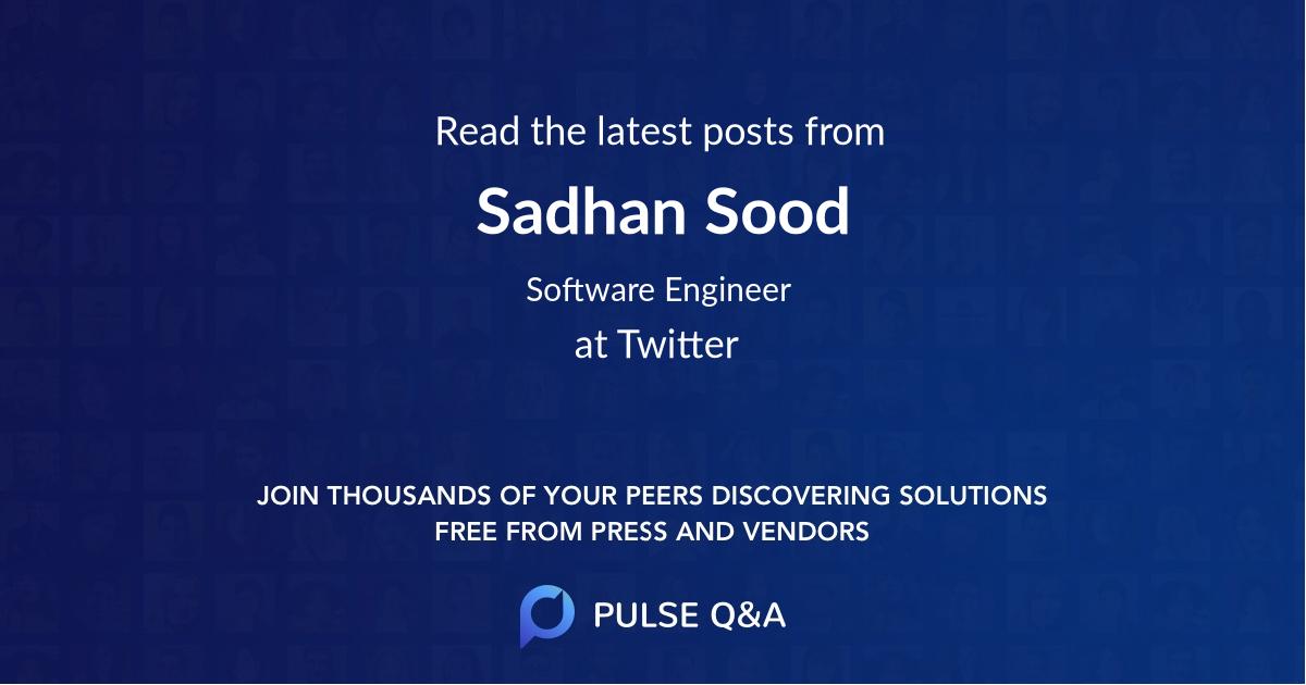 Sadhan Sood