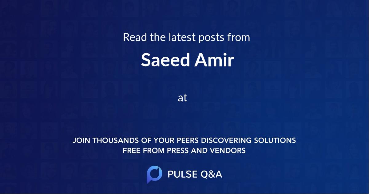 Saeed Amir
