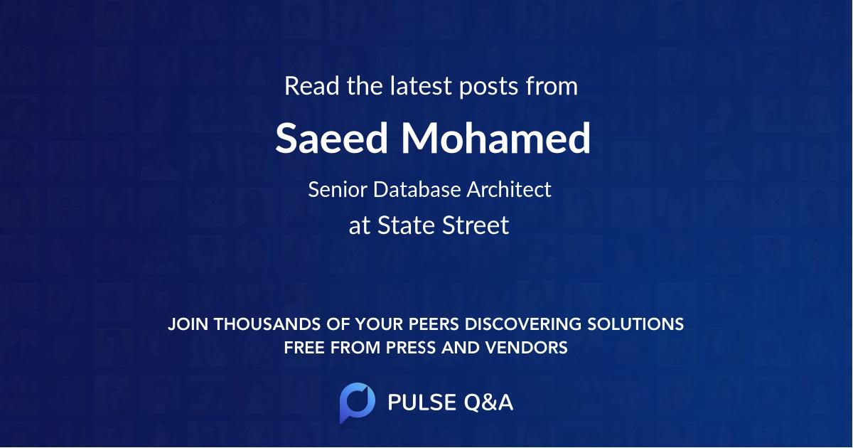 Saeed Mohamed