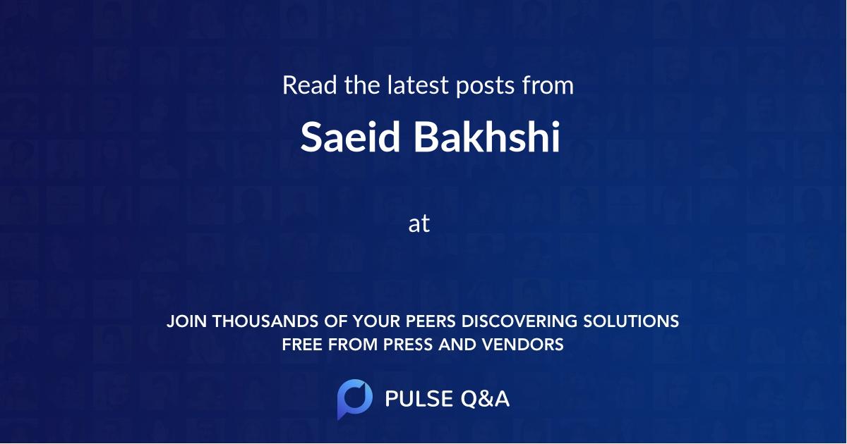 Saeid Bakhshi