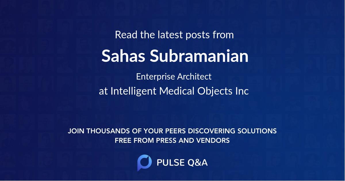 Sahas Subramanian