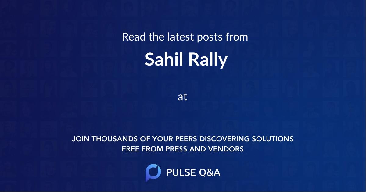 Sahil Rally