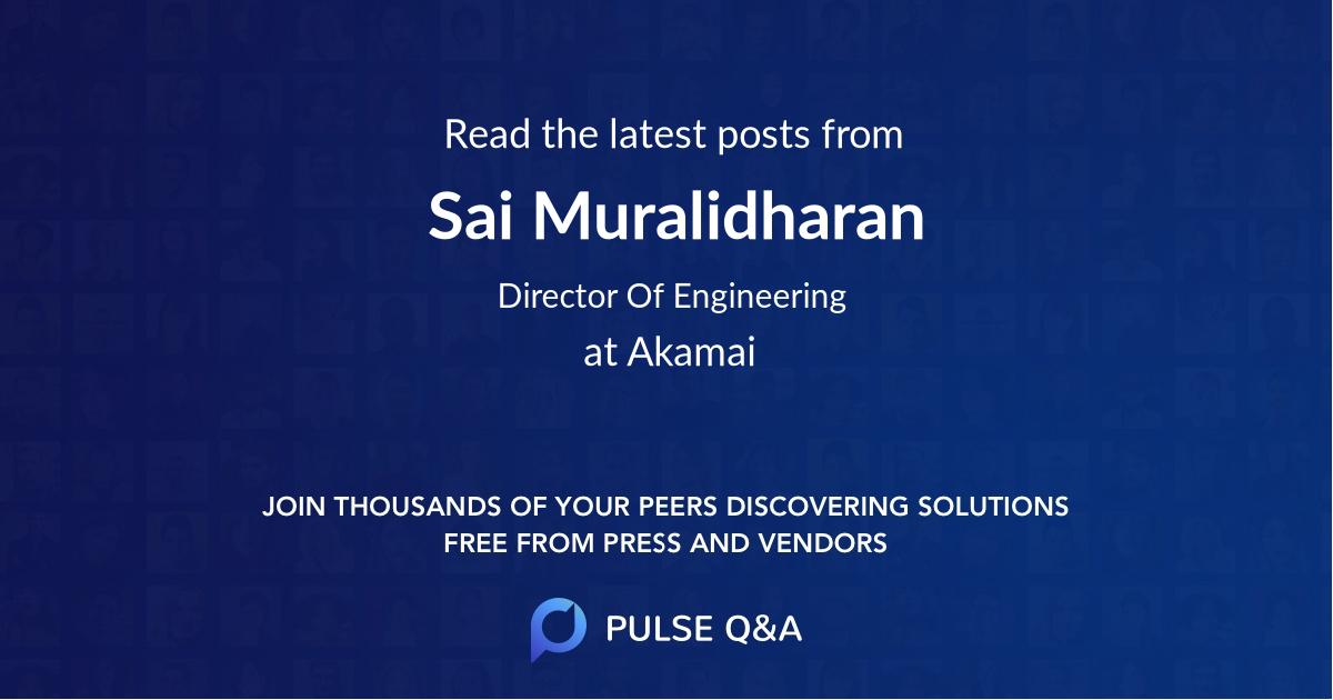 Sai Muralidharan