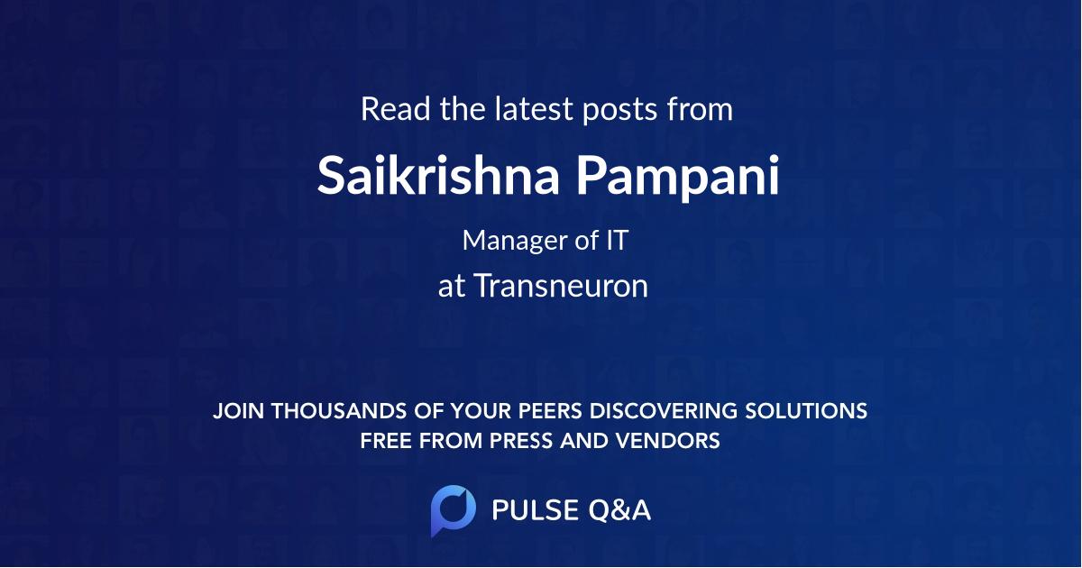 Saikrishna Pampani